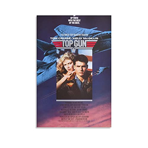 JIAN Original Top Gun Movie Poster Canvas Art Poster and Wall Art Picture Print Modern Family Bedroom Decor Posters 16×24inch(40×60cm)