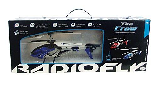 ODS 32474 – Hélicoptère RADIOFLY The Crow, Produit Un Assortiment Disponible en 2 Couleurs Bleu ou Rouge