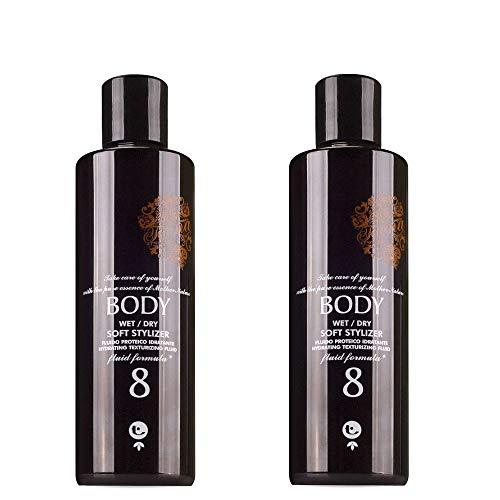 Fluido per capelli anti crespo 500 ml tecna the spa LMZ body 8 - black edition DUO PACK 2 x 250ml