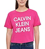 Calvin Klein Jeans Womens French Terry Logo Crop Top...