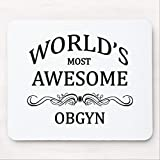 Mouse Pad for Computer with Non-Slip Rubber Base Worlds Most Awesome OBGYN Gaming Mousepad for Laptop PC, 7.9x9.8 inches