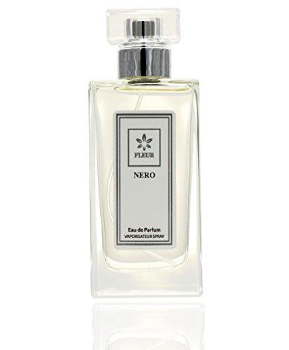 Nero Eau de Parfum pour Homme en Flacon Vaporisateur Spray de Fleur Parfumerie Luxe Aquatique, 1 x 50 ml