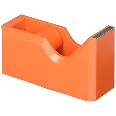 JAM PAPER Colorful Desk Tape Dispensers - Orange - Sold Individually