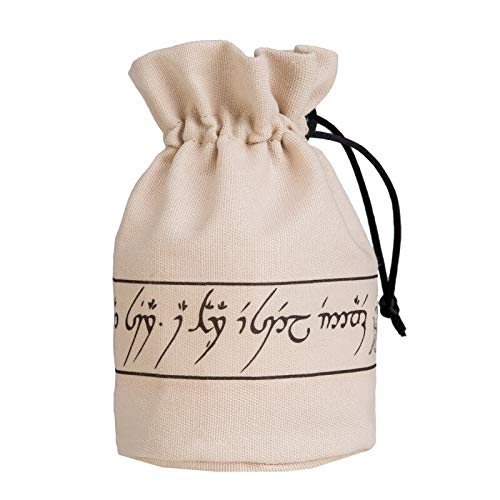 Q WORKSHOP Elvish beige & Black Dice Pouch