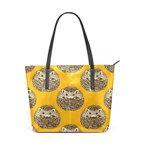 XGBags Custom Borsa a tracolla in pelle PU da donna Womens Purse Hedgehog Pattern PU Leather Shoulder Tote Bag