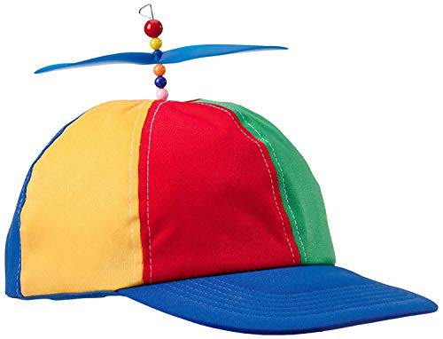 Boxer Gifts Helicopter Propeller Cap Hat | Adult Unisex | Rainbow Fancy Dress, Nerd, Party | Funny Secret Santa Gift, Cotton, Red
