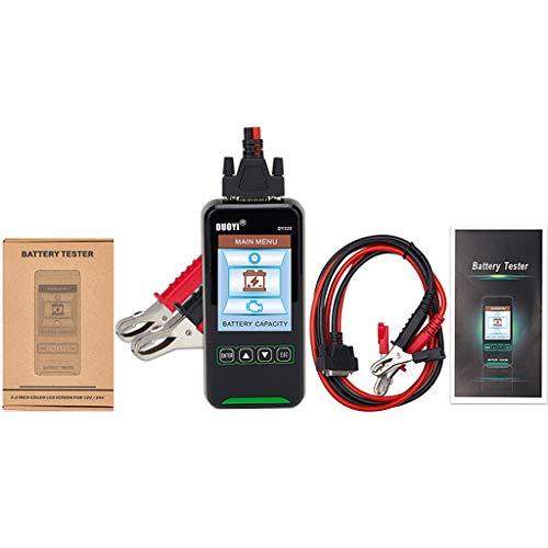 Comprobador de la capacidad de la batería del coche, prueba de resistencia interna de 12 V 24 V, analizador de batería de 2000 CCA
