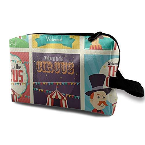 Hdadwy Magicians Old Fashioned Nostálgico, festivo, portátil, de viaje, bolsas de cosméticos, bolsas organizadoras de maquillaje, estuches organizadores de artículos de tocador de gran capacidad, bols