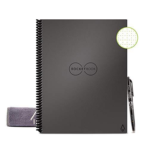Rocketbook Cuaderno Digital Inteligente Core Diario Reutilizable - Tamaño Letter A4 Gris