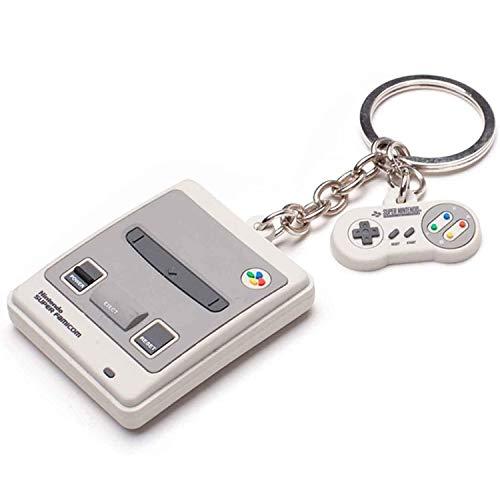 Nintendo Keychains Snes 3D Rubber Keychain Grey, talla...