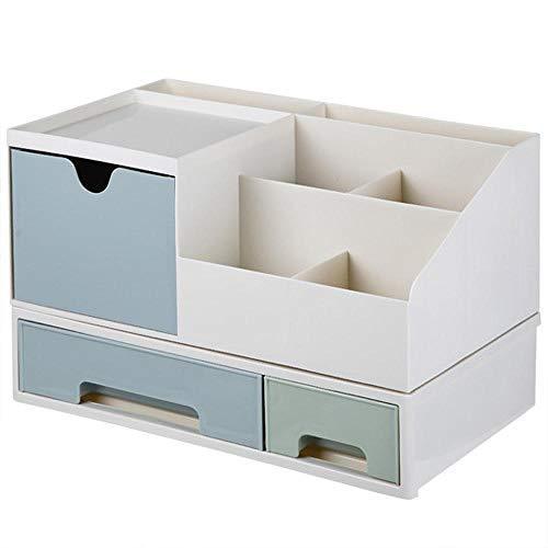 Cosmetica-opbergdoos voor woonhuis met opbergruimte voor bureau, lade, lippenstift, tandstang, huidverzorgingsproduct 2 Grid Single Layer Blue