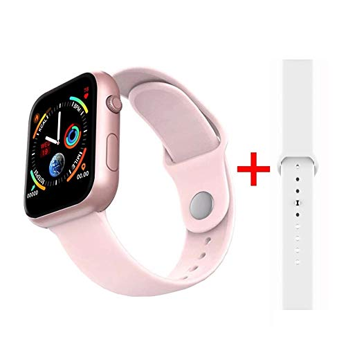 Smartwatch Smartwatch Bluetooth Smart Horloge hartslagmeting bloeddrukmeter smart watch vrouwen mannen smartwatch voor Android Apple iOS telefoon T-display, Roze