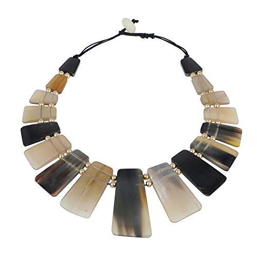 TJC Buffalo Horn Choker Necklace for Women Size 18'