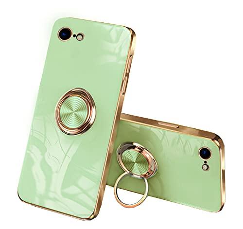 Cover compatibile con iPhone 7, in silicone liquido, antiurto, antigraffio, colore: verde, iPhone 7/8