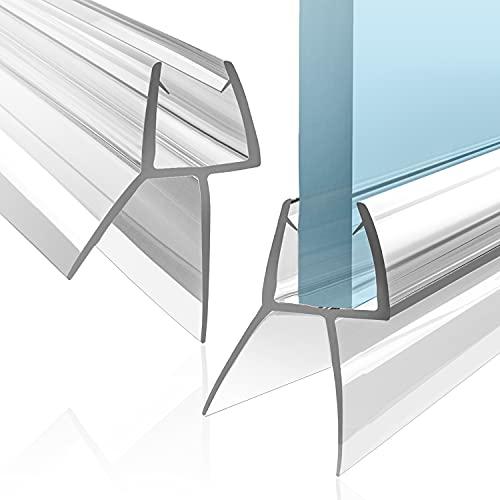 VENIBO Duschdichtung 2x80cm für 6/7/8mm Glastür - Universell! Anbringung verblüffend einfach! Ersatz Dichtung Dusche Glastür - Duschwand Dichtung - Dichtlippe Dusche - Duschdichtungen für Duschtüren