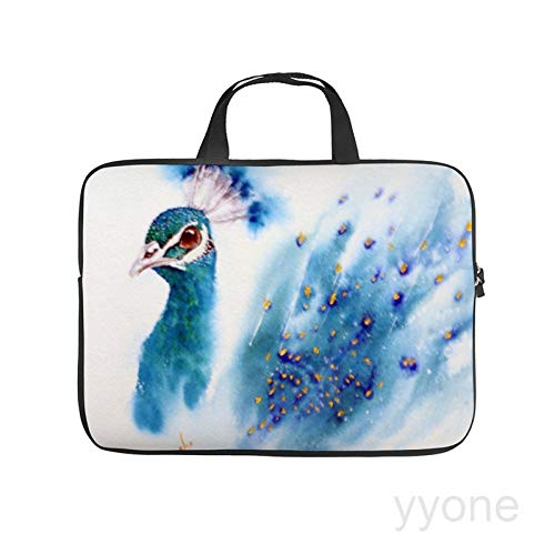 Neoprene Sleeve Laptop Handle Bag Handbag Notebook Case Cover Peacock Portable MacBook Laptop/Ultrabooks Case Bag Cover 15 Inch