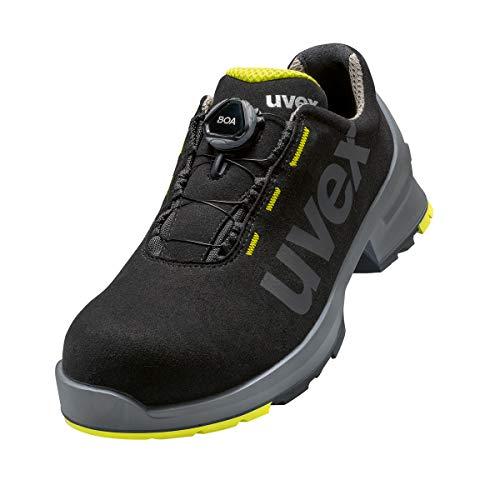 Uvex 1 Damen und Herren Halbschuh mit Boa® Fit System 6566.7 S2 SRC Weite 10 - Schwarz/Lime - Gr. 44