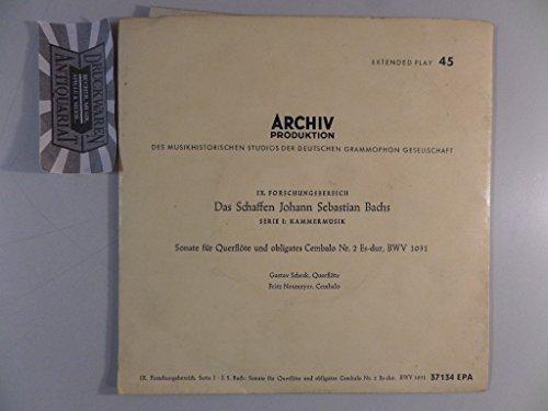"""Sonate Für Querflöte Und Obligates Cembalo Nr. 2 Es-dur, BWV 1031 [Vinyl, 7\""""-Single, 37 134 EPA]."""