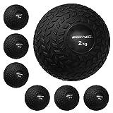 Slam Ball Gummi Medizinball. Fitnessball Gewicht 2-8 kg mit Griffiger Oberfläche. Durchmesser...