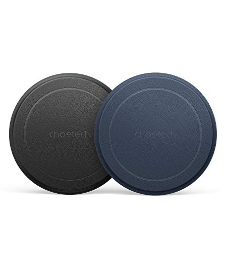 CHOETECH Magnetic Metal Plate, Compatible with Apple Mag-safe Charger and Wireless Charger for Magnetic Phone Car Charger Holder Cradle with Adhesive (Compatible with Mag-safe Car Charger) 2 Pack