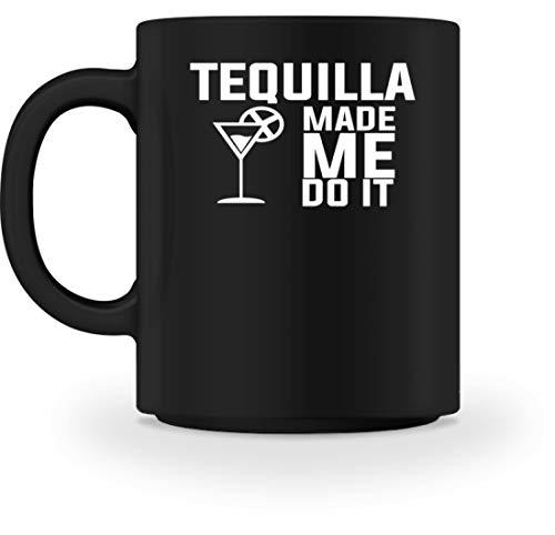 """Tequilla Mexico - Taza con texto en alemán""""Do It Made Me Do It"""", color negro Negro M"""