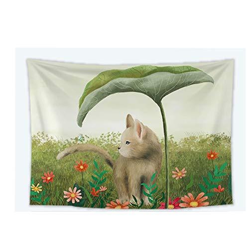 YANGYUAN Animales de la Historieta de la tapicería, Gato Tapiz, Tapiz Fondo de la Pared de la Tela Ornamento, Productos domésticos for el Dormitorio de la Sala, (150 * 130 cm)