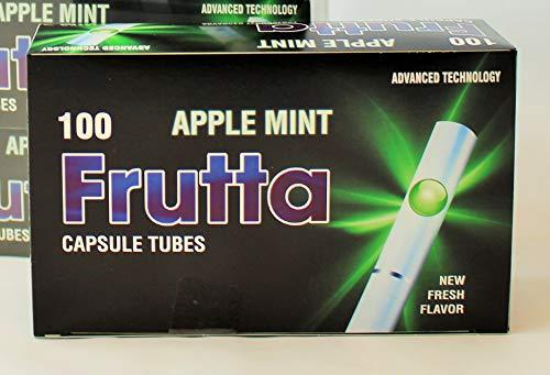 Frutta Hülsen mit Klick Apple Mint Capsule Tubes 5 er Pack 5 x 100Stk