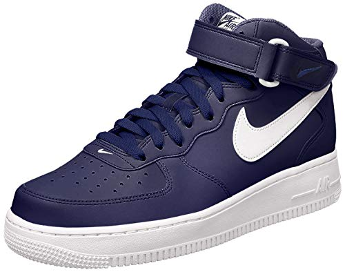 Nike Air Force 1 Mid 07, Zapatillas de Baloncesto para Hombre, Azul Blanco Midnight Navy White White, 40 1/2 EU
