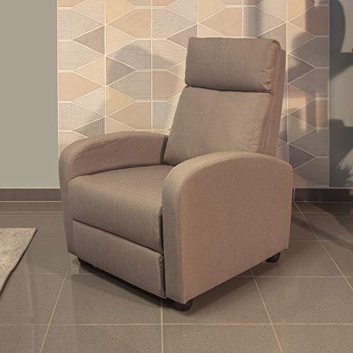 Homely Sillón Relax Shine Sistema Relax Manual tapizado