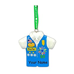 Personalized Girl Scout Daisy Ornament