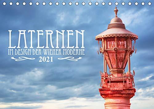 Laternen im Design der Wiener Moderne (Tischkalender 2021 DIN A5 quer)