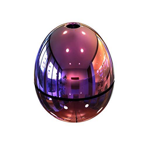 JOVAL - Huevo Humidificador y difusor de Aroma, efecto cromado de 300 ml. De gran duración y bonito diseño con función aromaterapia y relajación. Ultra silencioso.