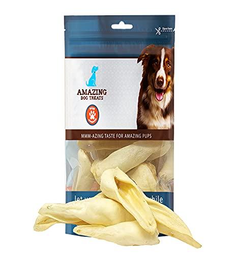 Lamb Ears (10 Pcs/Pack) - Natural Odor Free Rawhide Alternative - Premium Choice Cut Lamb Ear Dog Bones - Excellent Dog and Puppy Chews - Grain Free Treats for Dog