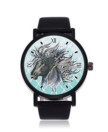 Reloj de Pulsera de Silueta de Sirena con Enrejado marroquí Verde Azulado,...