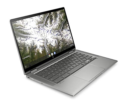 HP Chromebook x360 14c-ca0290ng (14 Zoll / Full HD IPS Touch) 2in1 Chromebook (Intel Core i3-10110U, 64 GB eMMC, 8 GB DDR4 RAM, Intel UHD Grafik, Chrome OS) Silber - 2