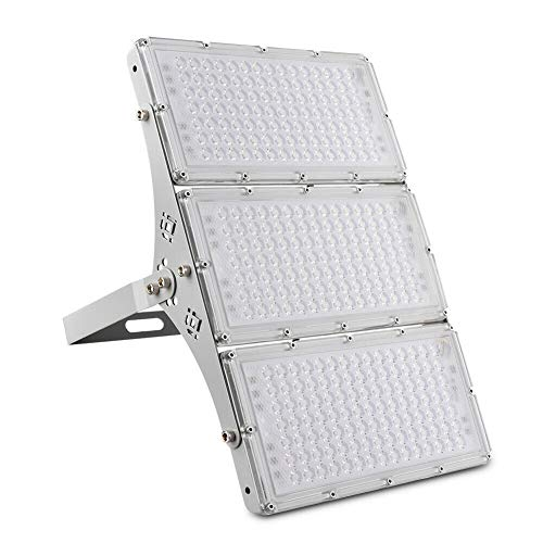 Viugreum 300W LED Flood Light, 24000LM Super Bright Outdoor Work Stadium Lights, 6000K Daylight White, 1500W Halogen Equivalent, IP66 Waterproof Security Floodlight for Garage, Garden, Lawn, Yard