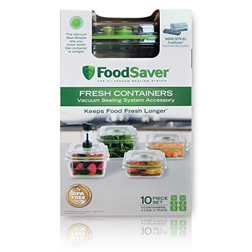 FoodSaver Fresh Containers | Vacuum Seal Food Storage Container Set | Clear | FA4SC3355T2