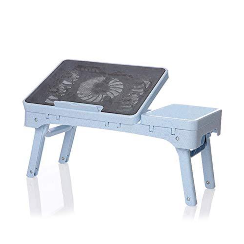 YAMEIJIA Multifunctionele bijzettafel Eenvoudig laptopbureau, lui bureau, inklapbare tafel, Blauw