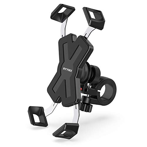 Bike Phone Mount - RYYMX Bicycle Phone Holder : 360° Rotation Adjustable Motorcycle Phone Mount for iPhone Xs Max XR X 8 7 6 Plus, Galaxy S10+ S9 S8, Note 10 9 8, GPS, 4-7 inches Android Cell Phones