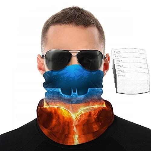 QPZM Fire Ba-Tm-an - Polaina para cuello con filtro, reutilizable, máscara de pasamontañas, transpirable, lavable, bufanda, diadema para hombres, mujeres, deportes al aire libre