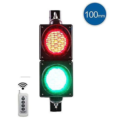 LED Ampel Lampe, Retro Industrie Wandlampe mit Fernbedienung 2 Licht, dekorative Bar Warnung rot grün Sicherheitsbeleuchtung