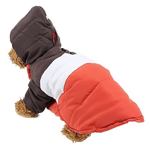 Eosnow Sudaderas con Capucha de Invierno cálidas para Mascotas, Abrigo de Ropa cálido, para Perros, Gatos,(Brown White Orange, L)