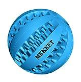 MEKEET Palla Giocattolo per Cani, Palla per Alimenti per Cani Palla da Gioco per Pulizia dei Denti, Palla Resistente al morso Non tossico Masticare Palla per Cane di Taglia Medio (D-Blu)