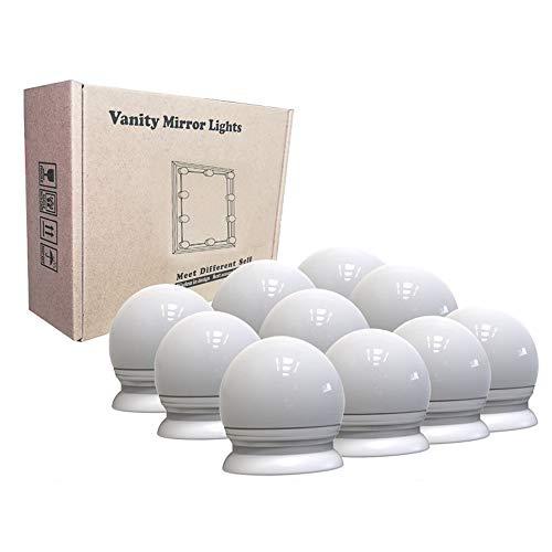 VUENICEE LED Spiegelleuchte, Schminktisch Beleuchtung,LED Spiegelleuchte Schminklicht,10 LED-Lampen mit Dimmfunktion,für Kosmetikspiegel Badzimmer Spiegel,3200K-6500k.