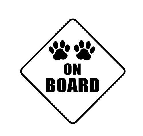 MDGCYDR Pegatinas Coche 10.2Cm*10.2Cm Paws On Board Dog Print Sticker Car Vinyl Decals Black Sliver