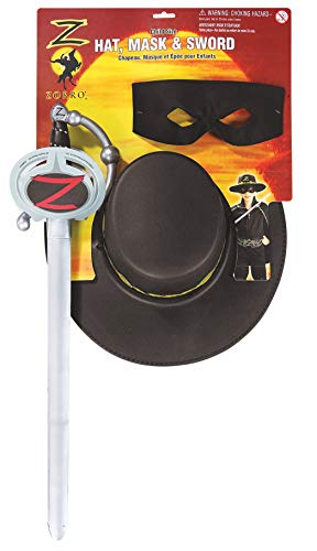 Rubie's-déguisement officiel - Zorro - Costumes Kit Accessoires Zorro- Taille Standard- AC2172