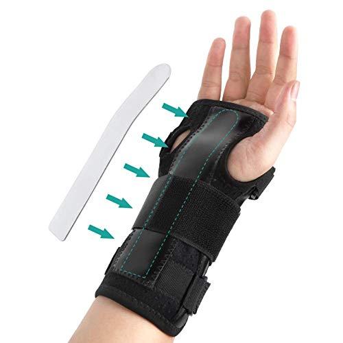Muñequera para el síndrome del túnel carpiano, ligera, transpirable, para la artritis, tendinitis y apoyo de la estabilidad, para mano izquierda y derecha