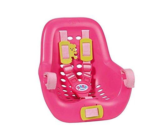Zapf Baby Born 820803 Doll Bicycle Seat Accesorio para muñecas - Accesorios para muñecas (Doll Bicycle Seat, 3 año(s), Rosa, Amarillo, 1 Asiento(s), 260 mm, 120 mm)