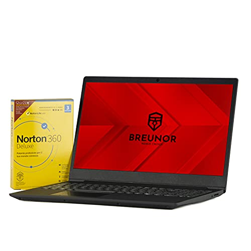 "Lenovo Notebook Iron Grey Display da 15.6"" Fino A 2.60GHz,Ram 8Gb Ddr4 SSd Nvme 500Gb,Radeon R3,Pc portatile lenovo,Hdmi,Wi fi,Bluetooth,Windows 10 professional + ANTIVIRUS"