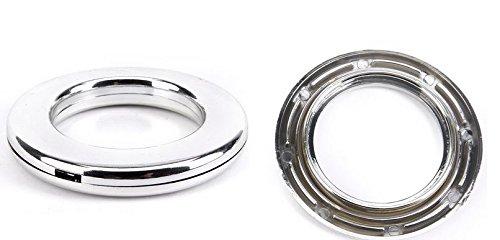 Marwotec Verbindungselemente 50 Stück Stoffösen für Stoffloch Ø 40 mm, verwendbar für alle Stoffstärken, 50 Stück, Kunststoff, Silber Glanz